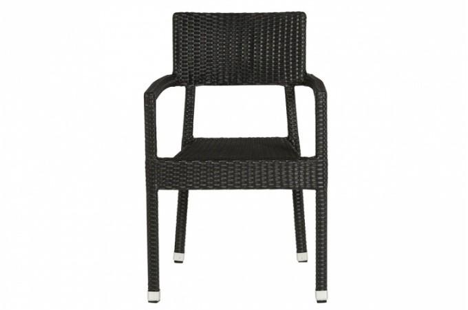 Chaise noire en osier orian design pas cher sur sofactory - Chaise en osier pas cher ...