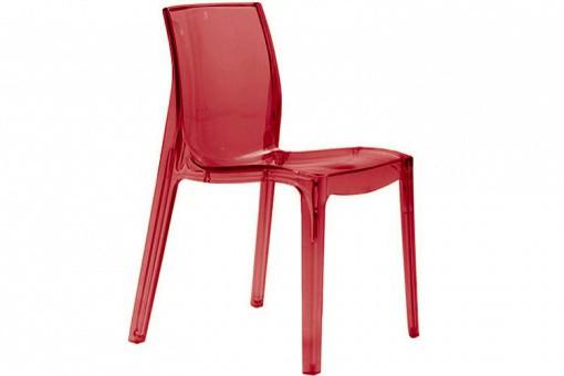 chaise rouge transparente vienne design sur sofactory. Black Bedroom Furniture Sets. Home Design Ideas