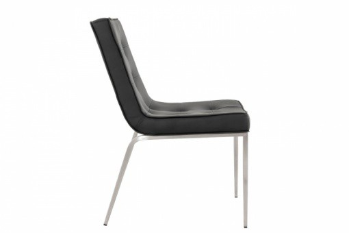 Chaise design en simili noir ELYSEE KO50665-0000