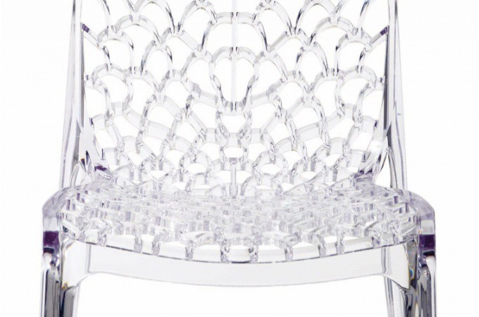 Lot De 2 Chaises Transparentes Filet Design Sur Sofactory