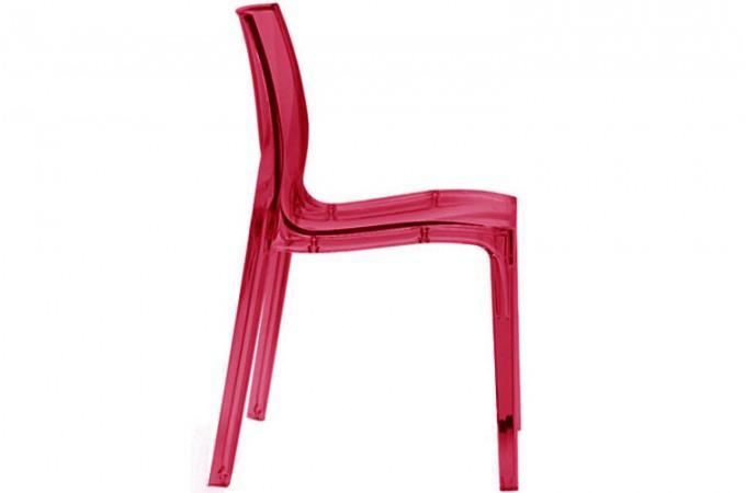 Chaise Rouge Transparente VIENNE