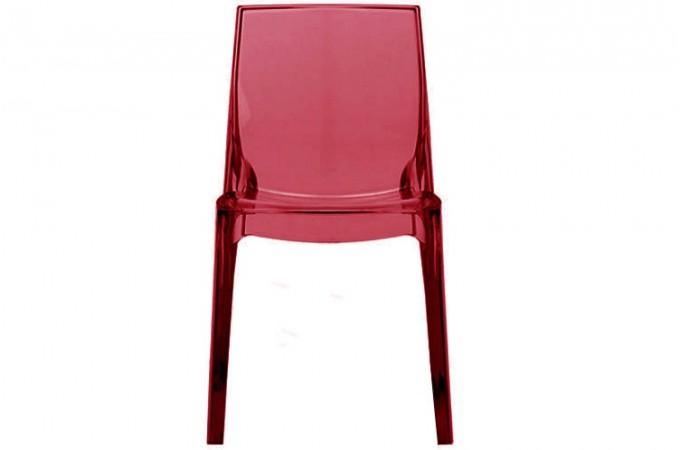 lot de 2 chaises rouges transparente vienne design sur sofactory. Black Bedroom Furniture Sets. Home Design Ideas