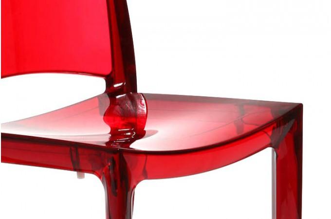 Lot de 2 chaises rouge transparent sommet design sur sofactory for Meuble chaise design
