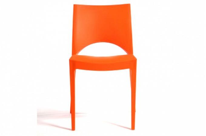 lot de 2 chaises design oranges delhi design sur sofactory. Black Bedroom Furniture Sets. Home Design Ideas