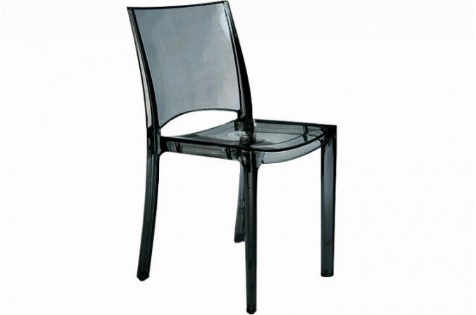 lot de 2 chaises gris transparent sommet design sur sofactory. Black Bedroom Furniture Sets. Home Design Ideas