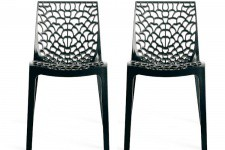 Lot de 2 chaises Design Grises Opaques FILET Sofactory