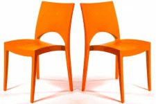 Lot de 2 Chaises Design Oranges DELHI