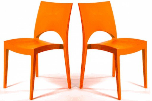 Lot de 2 Chaises Design Oranges DELHI SoFactory