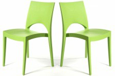 Lot de 2 Chaises Design Vertes DELHI Sofactory