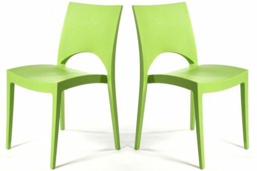 Lot de 2 Chaises Design Vertes DELHI