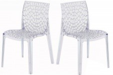 Lot de 2 Chaises Transparentes FILET