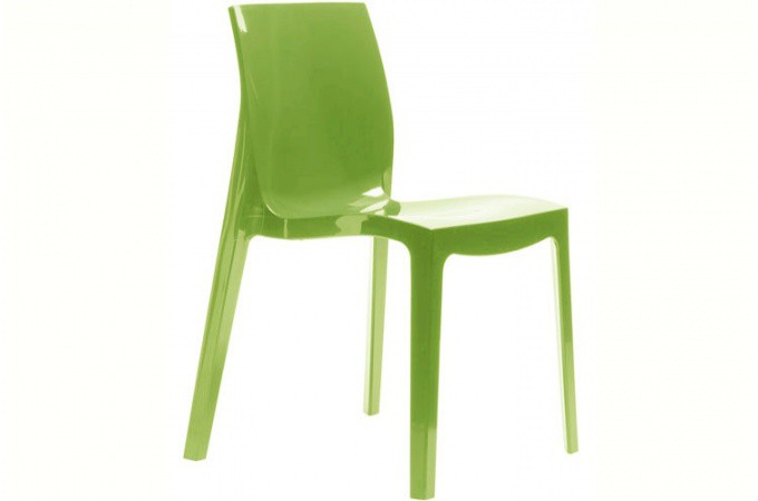 chaise design verte vienne design sur sofactory. Black Bedroom Furniture Sets. Home Design Ideas