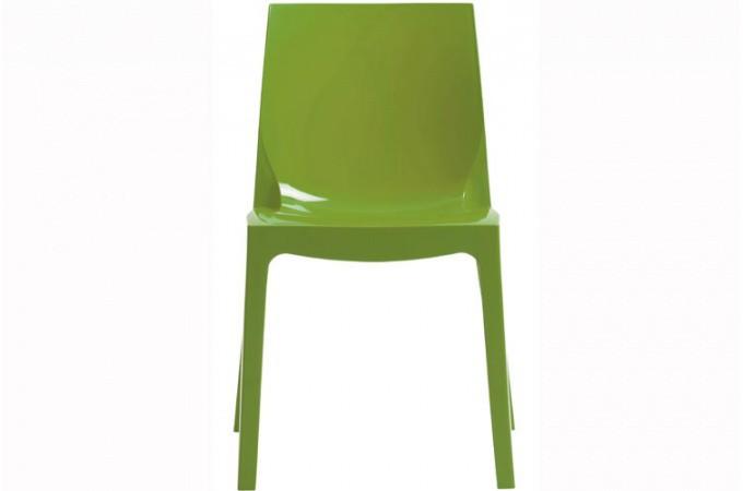 Chaise design verte vienne design sur sofactory - Chaise design polycarbonate ...