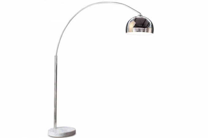 Lampe arc xl chrome febbraio d co design pas cher sur sofactory - Lampe sur pied design pas cher ...
