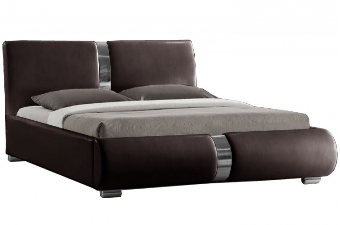 lit design chocolat macao 160x200 cm design sur sofactory. Black Bedroom Furniture Sets. Home Design Ideas