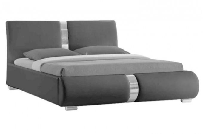 Lit design gris macao140 cm design pas cher sur sofactory - Tete de lit 140 cm pas cher ...