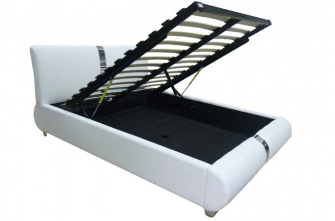 lit coffre sommier relevable 140 cm macao design sur sofactory. Black Bedroom Furniture Sets. Home Design Ideas