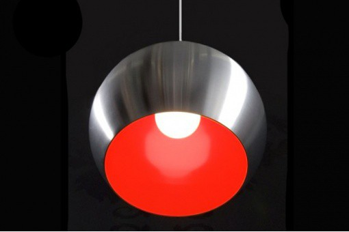 Lampe Suspension Paolo Alu/Rouge COSTA Acier KO41914-0000