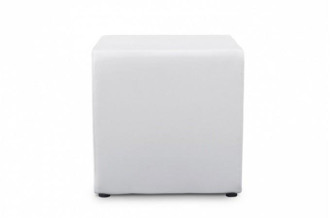 tabouret cube blanc en simili aline design sur sofactory. Black Bedroom Furniture Sets. Home Design Ideas