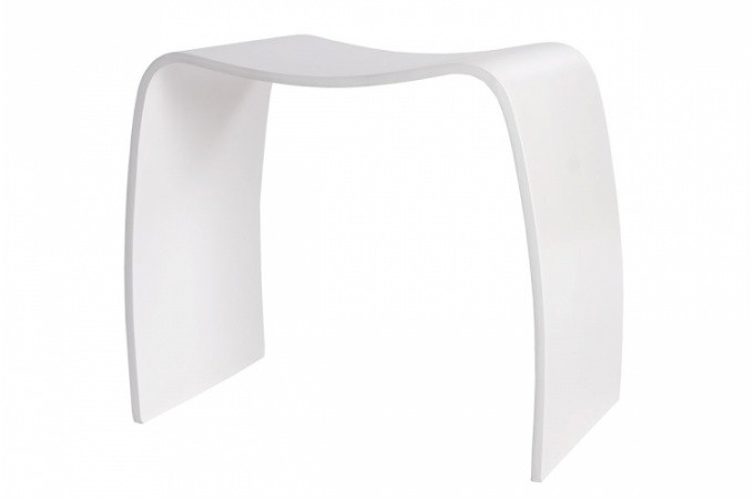 tabouret design en bois blanc wood design sur sofactory. Black Bedroom Furniture Sets. Home Design Ideas