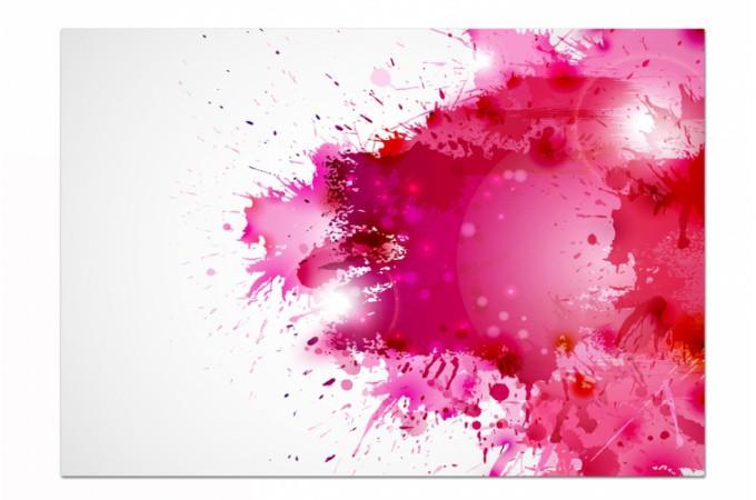 Tableau abstrait courant d 39 air rose x cm liliana - Tache de peinture sur vetement ...