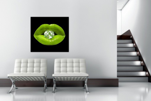 Tableau Pop Bouche Diams Vert Anis 80X80 cm MATTHEO - déco design ...