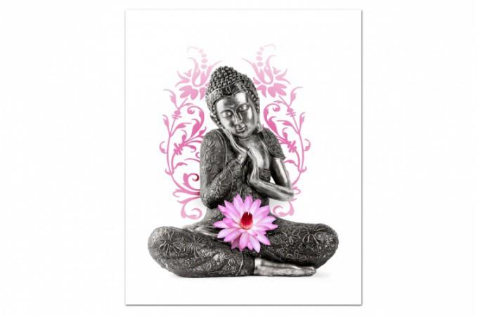 tableau zen bouddha serein x cm tha s d co design sur sofactory. Black Bedroom Furniture Sets. Home Design Ideas