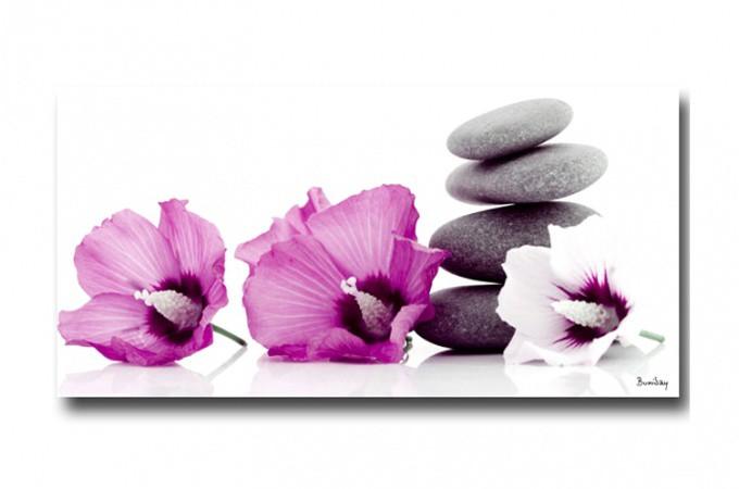 tableau zen trois fleurs 40 x cm kayla d co design. Black Bedroom Furniture Sets. Home Design Ideas