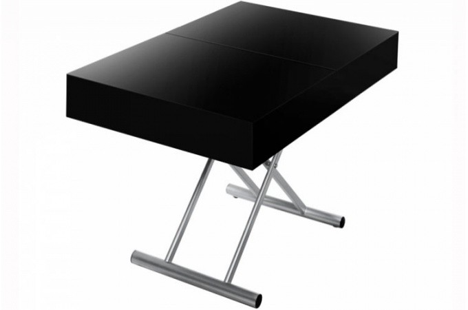 Table Rallonge Noire Of Table Basse Relevable Rallonge Noir Laqu Cio Design Sur