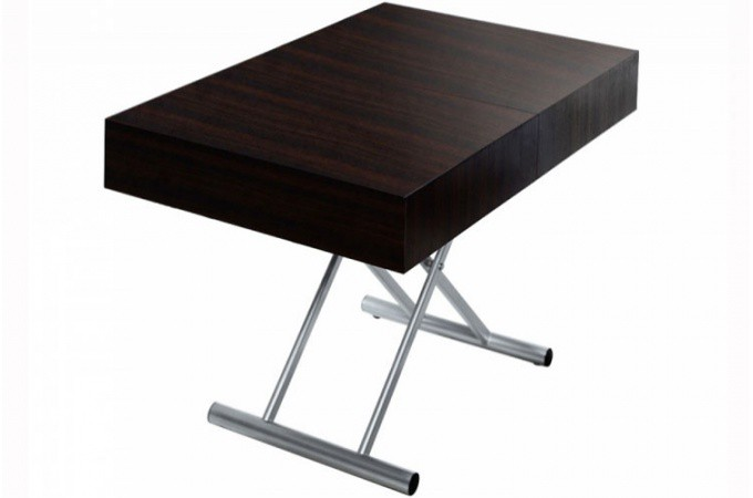 table basse relevable rallonge wengue cio design sur sofactory. Black Bedroom Furniture Sets. Home Design Ideas