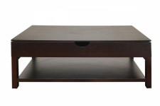 Table basse wengé avec plateau relevable UP Sofactory