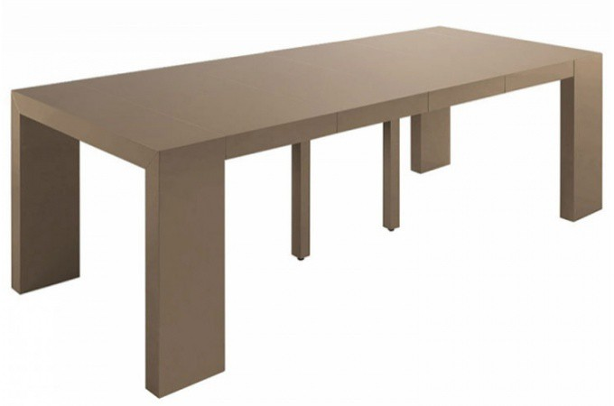 Console a rallonge cheap attrayant table de sejour - Table console extensible blanc laque design ...