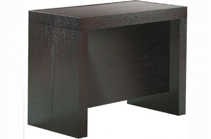 Console extensible wenge 250cm mat avec rangement LANA design sur ...