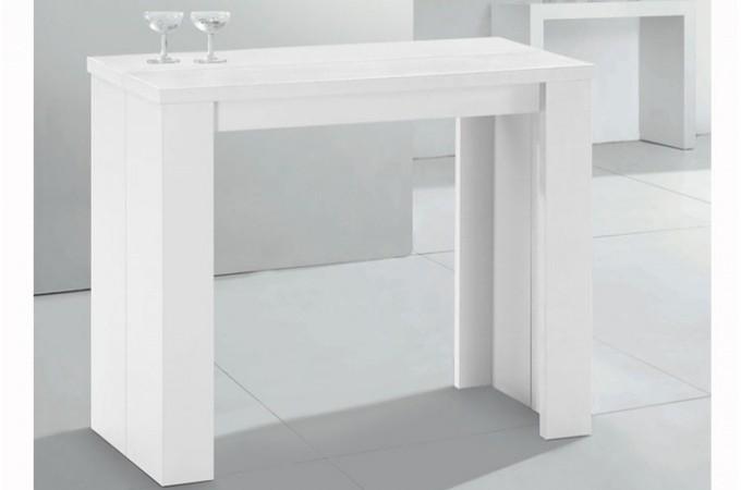 Console Extensible Blanche 190cm Mat Brooklyn Design Sur