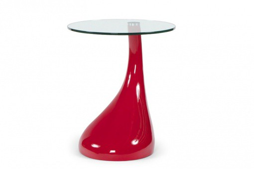 Table d'appoint design rouge SNOOPY