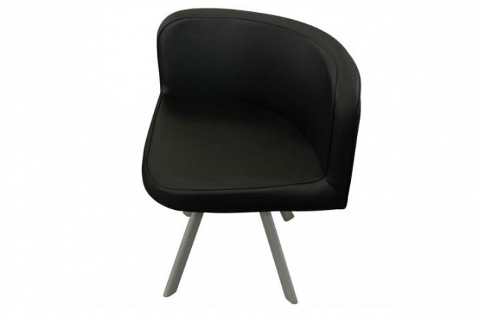 Table repas noire avec 4 chaises eric design sur sofactory for Table chaise noir