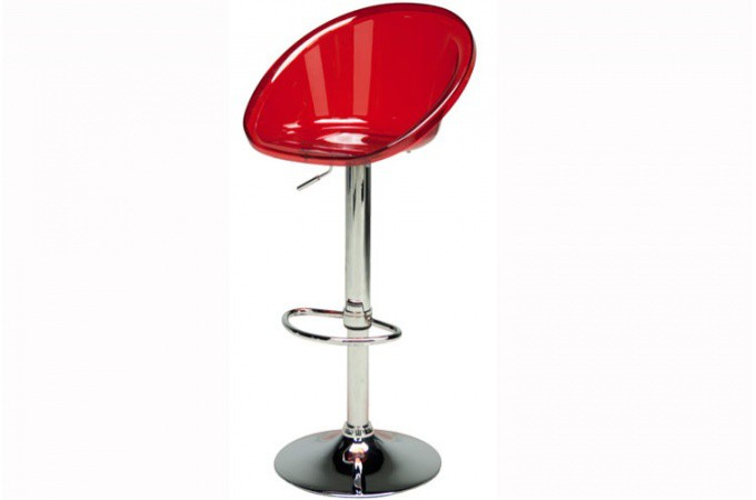 Chaise De Bar Transparente.Tabouret De Bar Rouge Transparent Rome