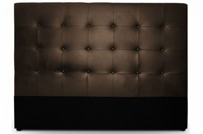 t te de lit capitonn e 160 cm coloris chocolat florentin design sur sofactory. Black Bedroom Furniture Sets. Home Design Ideas