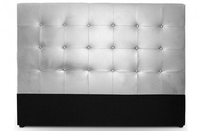 t te de lit capitonn e 180 cm coloris argent florentin design sur sofactory. Black Bedroom Furniture Sets. Home Design Ideas