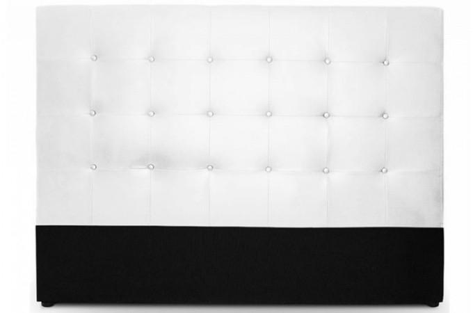 t te de lit capitonn e 180 cm coloris blanc florentin design sur sofactory. Black Bedroom Furniture Sets. Home Design Ideas