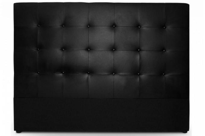 t te de lit capitonn e 180 cm coloris noir florentin design sur sofactory. Black Bedroom Furniture Sets. Home Design Ideas
