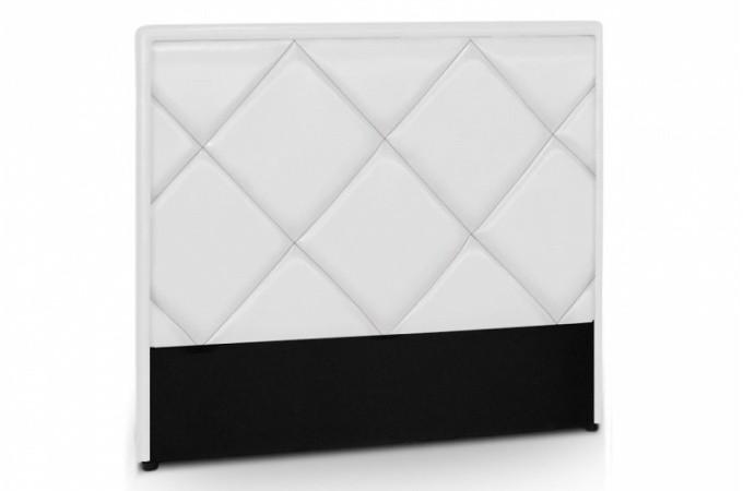 T te de lit en simili cuir blanc rams s 140 cm - Lit simili cuir blanc 140 ...