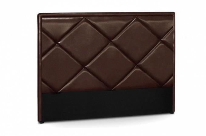 T te de lit en simili cuir marron - Tete de lit en simili cuir ...