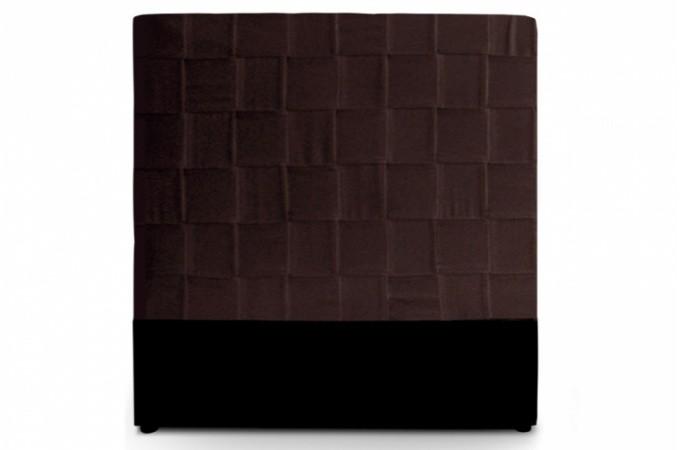 T te de lit en simili cuir marron 140 cm loka design pas cher sur sofactory - Tete de lit 140 cm pas cher ...