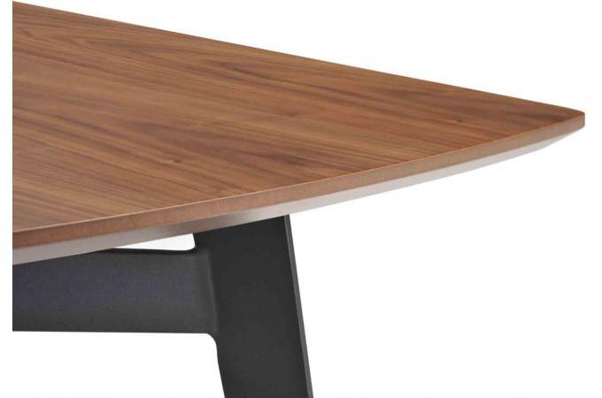 Table en bois h v a sensa 180cm plateau coloris noyer - Plateau en bois pas cher ...