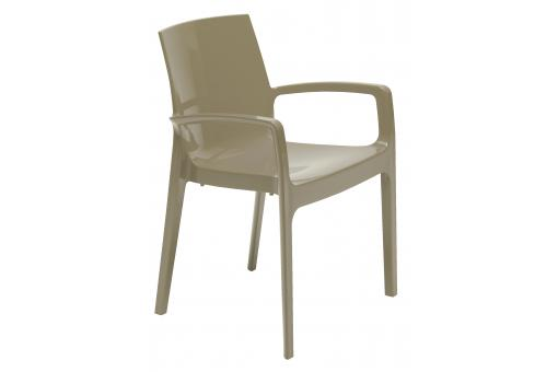 Chaise Design Taupe TARN