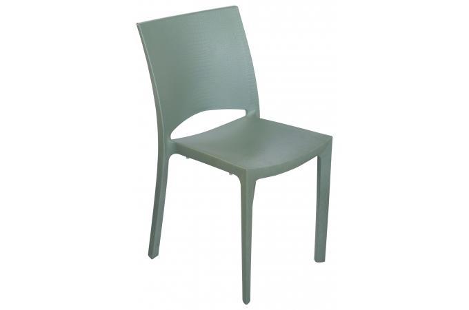 chaise design verte effet croco milly - Chaise Verte
