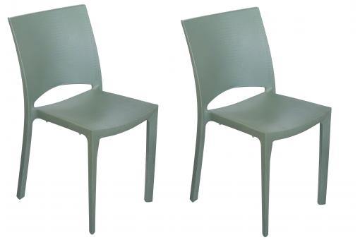 Lot de 2 chaises polypropylène vertes MILLY SoFactory