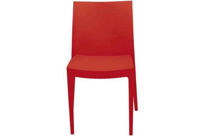 Chaise de jardin empilable rouge en polymeric kimie design - Chaise de jardin rouge ...