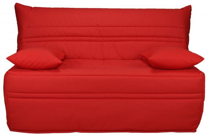 banquette bz 140x190 rouge matelas sofaflex 9 cm celine design pas cher sur sofactory. Black Bedroom Furniture Sets. Home Design Ideas